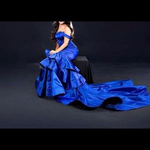 Blue dress Pageant